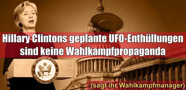 VIDEO: Hillary Clinton will die UFO-Geheimhaltung beenden wenn sie US-Präsidentin wird