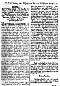 """Johann Andreas Eerdmann Maschenbauer: """"Der aus dem Reiche der Wissenschafften"""" 1750 (gemeinfrei)"""
