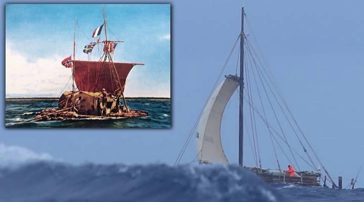 """""""Kon-Tiki 2"""": Experimental-Segler auf den stürmischen Spuren des Thor Heyerdahl von 1947: Schiffbruch nach 114 Tagen im Pazifik (Bild: gemeinfrei / kontiki2.com)"""