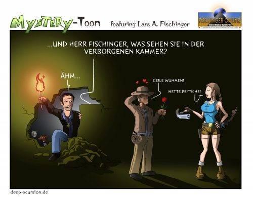 Mystery-Toons #11: Lars A. Fischinger vs. Indiana Jones und Lara Croft (Bild: H. Stehr / Deep-Xcursion.de)