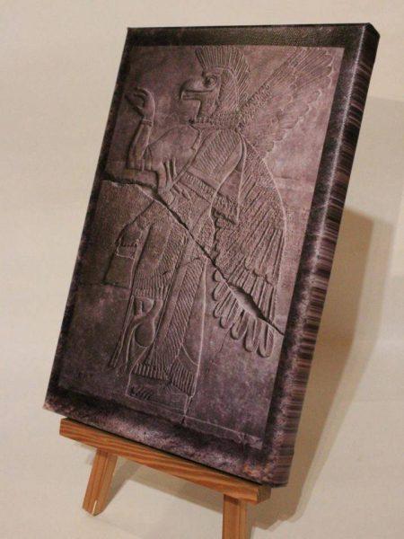 Leinwand-Druck: Geflügelter Genius (Anunnaki) aus Mesopotamien