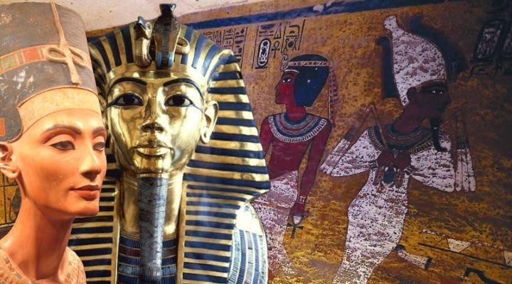 Das Grab des Tutanchamun und die geheimen Kammern: Mögliche Sensation verschoben (Bilder: gemeinfrei / Montage L. A. Fischinger)