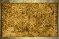 Leinwand-Druck: Die legendäre Grabplatte von Palenque - ein Astronaut?
