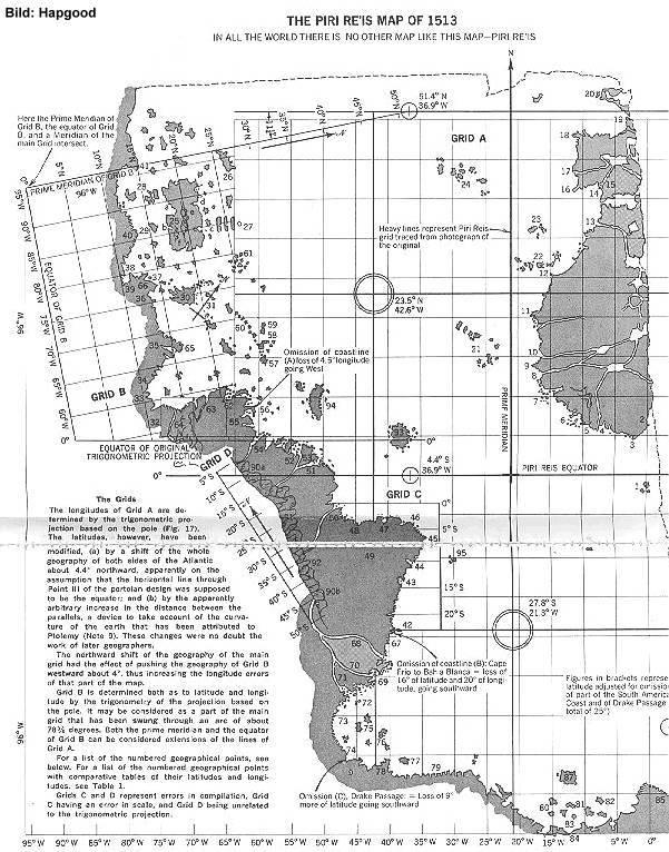 Piri Reis Karte Atlantis.Die Weltkarte Des Piri Reis Von 1531 Als Replik Poster Druck Eine Antarktis Ohne Eis