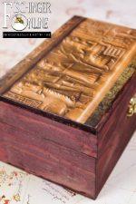 """Truhe / Deko-Box: Das """"Nibriu-Rollsiegel"""" mit unserem Sonnensystem (handgemacht)"""