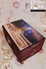 Truhe / Deko-Box: Das Universum über der Sphinx und der Cheops-Pyramide (handgemacht)