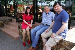 Marie L. Sievers, Gerhard Gröschel und Robert Fleischer bei einer Tagung im Sommer 2015 in Erfurt (Bild: L. A. Fischinger)