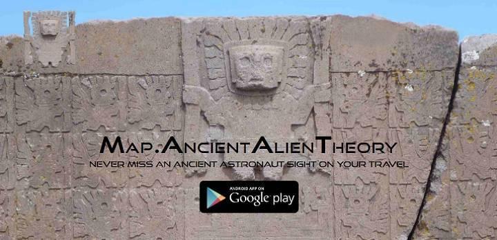 Mit den Astronautengöttern auf Reisen - die Ancient Aliens Theorie Karten App für das Smartphone (Bild: Screenshot ancientaliensightseeing.com)