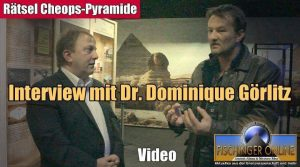 """Dr. Dominique Görlitz und Lars A. Fischinger im Interview zu den Rätseln der Cheops-Pyramide und dem """"Cheops-Projekt"""" (Bild: L. A. Fischinger)"""