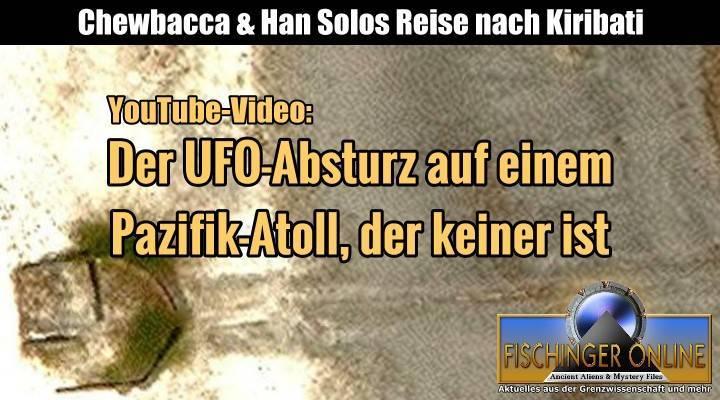 """Das """"Millennium Falke UFO"""" von Starbuck Island: Eine Analyse der """"Sensationsmeldung"""" von Lars A. Fischinger auf YouTube (Bild: Google Earth / Bearbeitung: L. A. Fischinger)"""