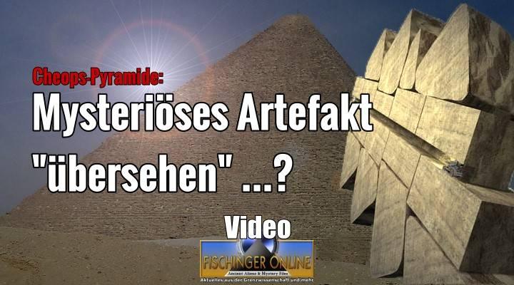 """Modern oder Jahrtausende alt: Was fand der """"Pyramid Rover"""" bei seinen Erkundungen 2002 in der Cheops-Pyramide? (Bild: L. A. Fischinger / R. Gantenbrink/Cheops.org / Montage: L. A. Fischinger)"""
