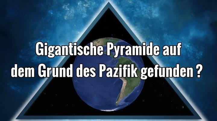Angeblich gigantische Pyramide oder sogar ein UFO auf dem Grund des Pazifik entdeckt (Bild: Google Earth / Montage: L. A. Fischinger)
