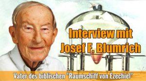"""Das letzte Interview (1998) mit Josef F. Blumrich - dem Vater des Raumschiffs des Ezechiel: """"Meine Ansicht ist unverändert."""" (Bild: J. F. Blumrich / Montage: L. A. Fischinger)"""