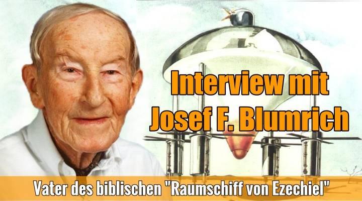 """Prä-Astronautik-Legende Josef F. Blumrich – der Vater des """"Raumschiffs des Ezechiel: Er starb 2002 und gab Lars A. Fischinger 1998 sein letztes Interview (Bild: J. F. Blumrich / Montage: L. A. Fischinger)"""