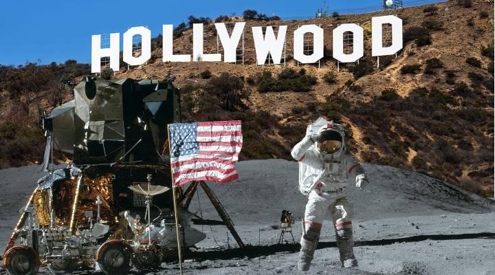 Die Mondlandung und Hollywood: Hat Hollywood-Regisseur Stanley Kubrick die Landung der NASA auf dem Mond für die USA gefälscht? (Bild: NASA / gemeinfrei / Montage: Fischinger-Online)