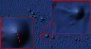 Gigantische Pyramide oder UFO auf dem Grunde des Pazifik entdeckt - Bild 2 (Bild: Google Earth / Montage: L. A. Fischinger)