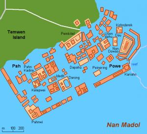 Teilansicht der Ruinen von Nan Madol (Bild: gemeinfrei)