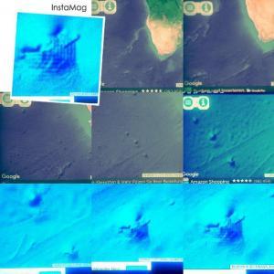 Pyramiden im Meer vor Südafrika? (Bilder: Google Earth)