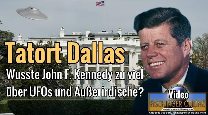 Wusste JFK zu viel über Aliens & UFOs? (Bild: WikiCommons/gemeinfrei / Montage: L. A. Fischinger)