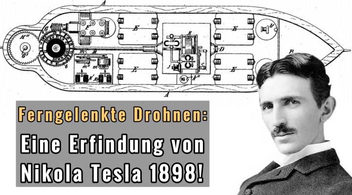 Erfand Nikola Tesla 1898 die erste ferngelenkte Drohen der Weltgeschichte? (Bilder: gemeinfrei)