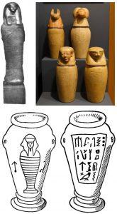 Beispiele solcher Kanopen-Vasen (Bilder: gemeinfrei/WikiCommons)