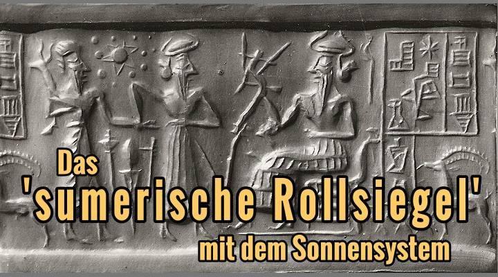 """Das """"sumerische Rollsiegel"""" des Zecharia Sitchin und das Rätsel um die 4.500 Jahre alte Abbildung unseres gesamten Sonnensystems. Artikel von Lars A. Fischinger (Bild: Archiv L. A. Fischinger)"""