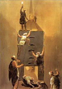 Die Araber Unter Kalif Al-Mamun erkunden 833 die Cheops-Pyramide. Die ersten Entdecker waren sie dabei-wohl eher nicht ... (Bild: gemeinfrei)
