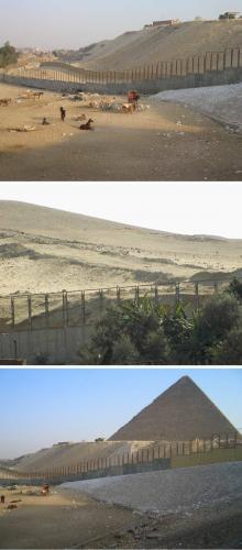 """Die """"Gizeh-Mauer"""" (Bild: L. A. Fischinger)"""