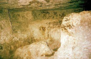 """Teilansicht der sog. """"unvollendeten Grabkammer"""" tief unten in der Cheops-Pyramide (Bild: W.-J. Langbein)"""