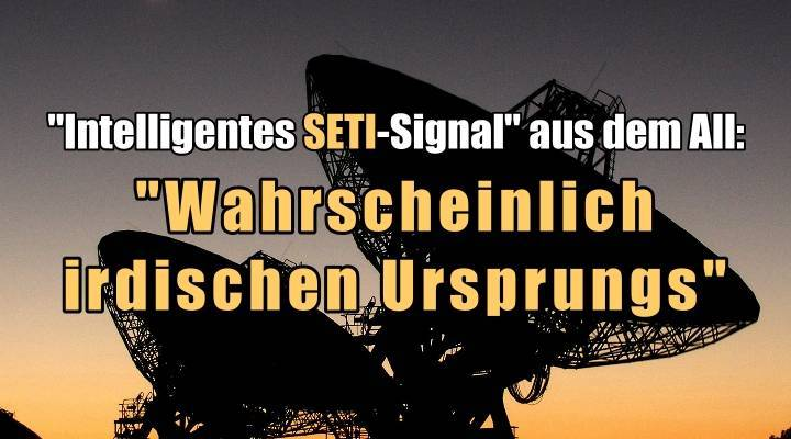 """Fehlalarm um das mutmaßlich intelligente SETI-Signal aus dem All: es ist """"wahrscheinlich terrestrischen Ursprungs"""" (Bild: Graeme L. White & Glen Cozens [James Cook University] / Bearbeitung: L. A. Fischinger)"""