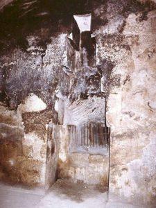 Nische in der Kammer der Königin der Cheops-Pyramide : Stand hier einst ein Statue oder Sarkophag? (Bild: gemeinfrei)