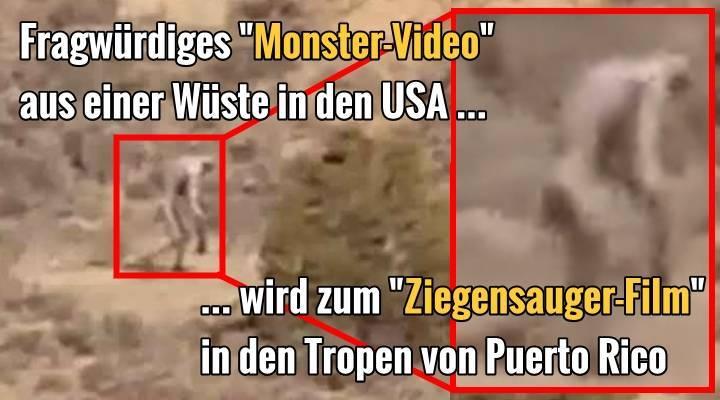 Ein fragwürdiges Video aus der Wüste der USA ... wandelte sich zu einem Film eines Ziegensauger auf der Insel Puerto Rico in der Karbik