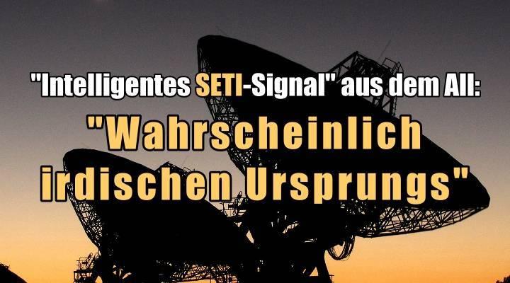 """VIDEO: Fehlalarm um das mutmaßlich intelligente SETI-Signal aus dem All: es ist """"wahrscheinlich terrestrischen Ursprungs"""""""