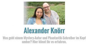 Der Blog des Mystery-Jägers und Autoren Alexander Knörr (Bild: A. Knörr)