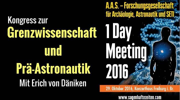 """Meeting der """"Forschungsgesellschaft für Archäologie, Astronautik und SETI"""" 2016 mit Erich von Däniken: Programm und alle Informationen online (Bild: A.A.S. / Bearbeitung: L. A. Fischinger)"""