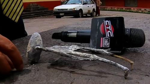 """Die angebliche """"Alien-Mumie"""" aus Peru (Bild CTC Cusco / YouTube-Screenshot)"""