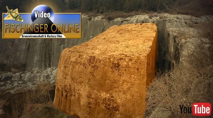 VIDEO: 16.250 Tonnen schwer! Der gewaltigste Megalith der Welt liegt in China. Nur kennt ihn kaum einer … (Bild: Lzy Cn / Panoramia / Bearbeitung: Fischinger-Online)