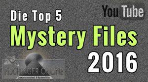 Die 5 meist gesehenen Mystery Files-Videos auf YouTube 2016 von Fischinger-Online (Bild: L. A. Fischinger)