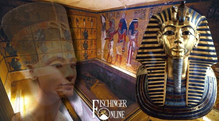 Das Rätsel um die (mutmaßlichen) verborgenen Kammern im Grab von Tutanchamun: kommt jetzt die endgültige Klärung? (Bilder: gemeinfrei / Montage: L. A. Fischinger)
