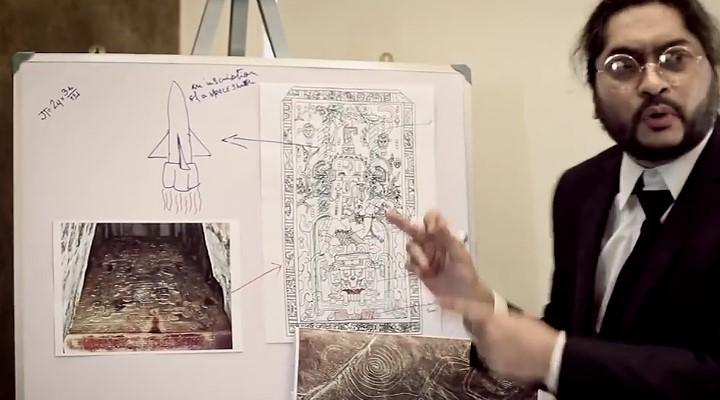 Netzfundstück: Musik-Video aus Bangladesch als eine Hommage an Erich von Däniken und die Prä-Astronautik (Bild: Screenshot YouTube/Rupam Islam)