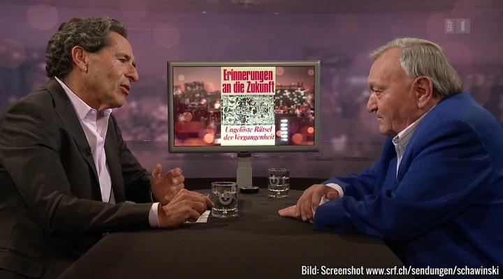 TV-Talk mit Erich von Däniken im Schweizer Fernsehen (Bild: Screenshot srf.ch/sendungen/schawinski)