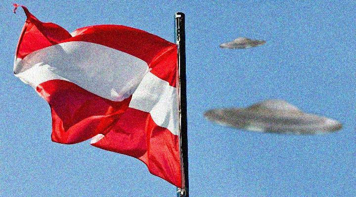 UFO-Alarm über ganz Österreich?! (Bild: gemeinfrei / Montage: L. A. Fischinger)