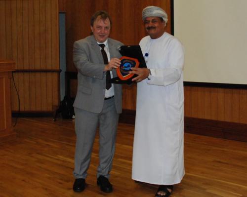 """Dominique Görlitz bei der """"ABORA""""-Präsentation in Oman (Bild: D. Görlitz)"""