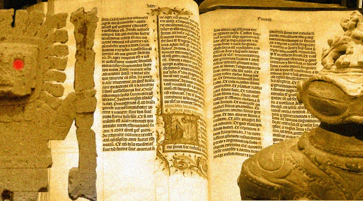 """""""Waren die Götter der Heiden wirklich Astronauten?"""" fragt sich ein Bibelfundamentalist in einem Vortrag (Bilder: gemeinfrei/L. A. Fischinger / Montage: L. A. Fischinger)"""