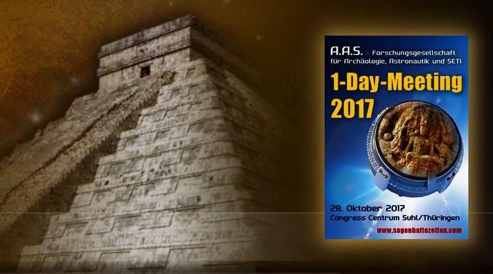 A.A.S. 1-Day-Meeting 2017 mit Erich von Däniken am 28. Oktober in Suhl: Das Programm & Infos (Bild: A.A.S.)