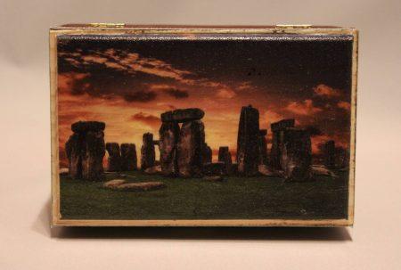 Truhe / Deko-Box: Das mysteriöse Stonehenge – älter als die Pyramiden! (handgemacht)