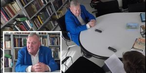 Erich von Däniken in einem umfangreichen Interview mit Andreas F. Kirchner 2017 (Bilder: A. F. Kirchner/YouTube-Screenshot)