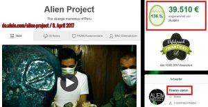 Geld für die Alien-Mumien von Nazca in Peru