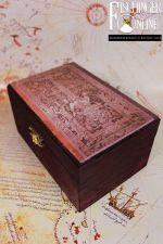 Truhe / Deko-Box: Die legendäre Grabplatte von Palenque – ein Astronautengott? (handgemacht)