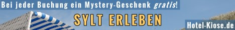 Hotel Kiose auf Sylt: Hotel, Ferienwohnungen und Bistro. Bei jeder Buchung über Fischinger-Online ein Mystery-Geschenk GRATIS!